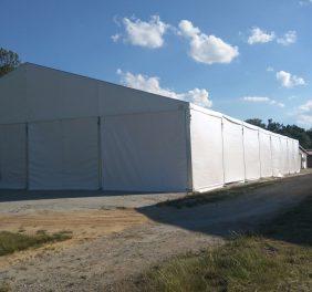 Ujeżdżalnia dla koni 20×40 hala namiotowa