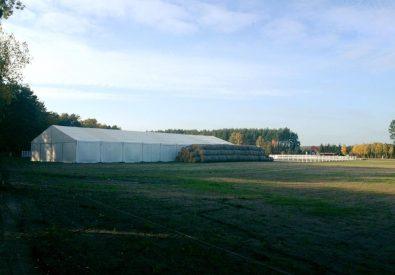 20×50 ujeżdżalnia dla koni hala namiotowa