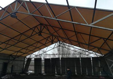 Mocna konstrukcja 20×40 z nowym dachem z PCV