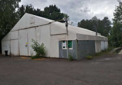 Hala namiotowa używana 24x14m z dobudówką
